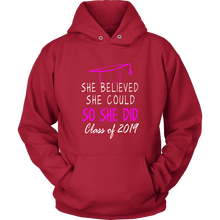 Load image into Gallery viewer, She Believed She Could - Class of 2019 Hoodie - Red