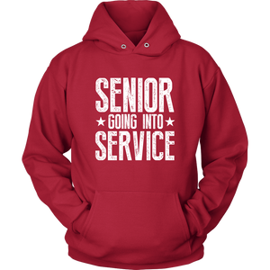 Senior Going Into Service - Class of 2019 Senior Hoodies - Red