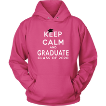 Load image into Gallery viewer, Keep Calm And Graduate - Senior Hoodie 2020