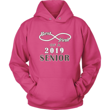 Load image into Gallery viewer, Senior Class Of 2019 Hoodie - Best Friend Of A 2019 Senior - Pink