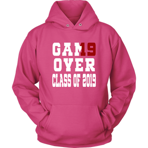 Game Over - Graduation Hoodies - Pink