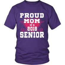 Load image into Gallery viewer, Proud Mom of 2018 Senior- Graduation Shirts For Family-Purple