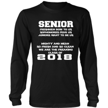 Load image into Gallery viewer, Mighty and Mean-Class of 2018 long sleeve shirts - My Class Shop