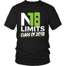 Load image into Gallery viewer, No Limits - Class of 2018 t shirts - My Class Shop