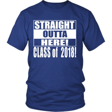 Load image into Gallery viewer, Straight Outta Here-Seniors shirt - My Class Shop