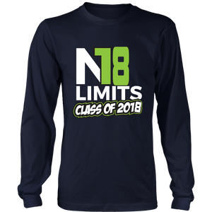 No Limits - Class of 2018 long sleeve shirts - My Class Shop