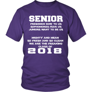 Mighty and Mean-Class of 2018 shirts - My Class Shop