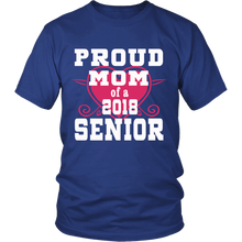 Load image into Gallery viewer, Proud Mom of 2018 Senior- Graduation Shirts For Family-Blue