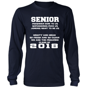 Mighty and Mean-Class of 2018 long sleeve shirts - My Class Shop