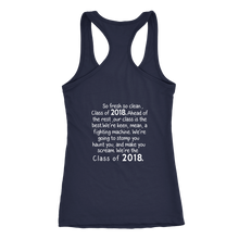 Load image into Gallery viewer, So Fresh So Clean-Class of 2018 Tank top - My Class Shop