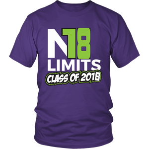 No Limits - Class of 2018 t shirts - My Class Shop