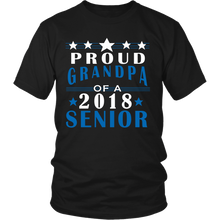 Load image into Gallery viewer, Proud Grandpa of a 2018 Senior- Graduation T-shirts For Parents - black color