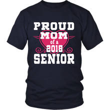 Load image into Gallery viewer, Proud Mom of 2018 Senior- Graduation Shirts For Family Navy