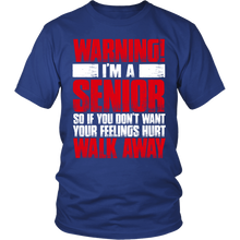Load image into Gallery viewer, WARNING - I'm A Senior class of 2017 shirt - My Class Shop