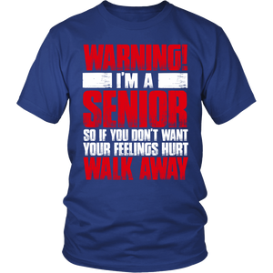 WARNING - I'm A Senior class of 2017 shirt - My Class Shop