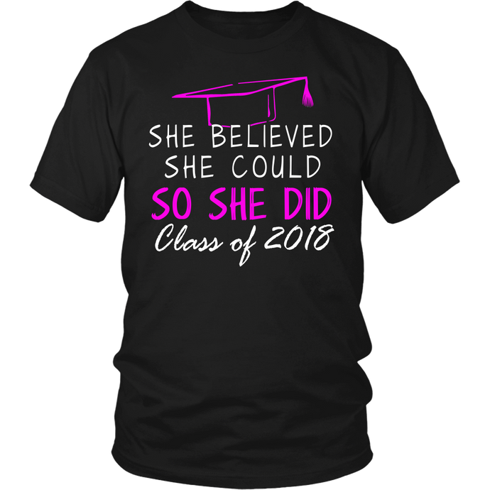 She Believed She Could- Seniors t shirt - My Class Shop