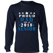Load image into Gallery viewer, Proud Dad of 2018 Senior Long Sleeve - Senior class t shirts - My Class Shop