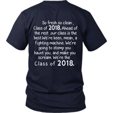 Load image into Gallery viewer, So Fresh So Clean-Class of 2018 t shirts - My Class Shop