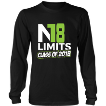 Load image into Gallery viewer, No Limits - Class of 2018 long sleeve shirts - My Class Shop