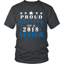 Load image into Gallery viewer, Proud Grandpa of a 2018 Senior- graduation t shirts for family - My Class Shop