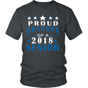 Proud Grandpa of a 2018 Senior- graduation t shirts for family - My Class Shop