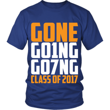 Load image into Gallery viewer, GONE, GO1NG, GO7NG - Class of 2017 - My Class Shop