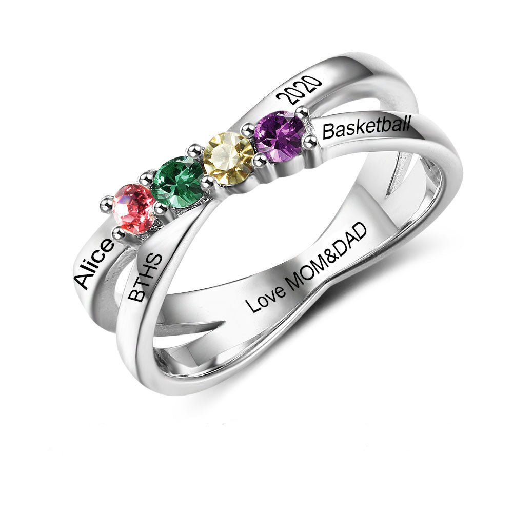 Custom Class Rings - 925 Sterling Silver MCS102509