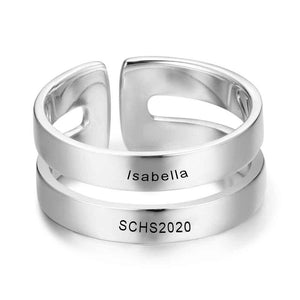 High School Class Rings - 925 Sterling Silver - 1