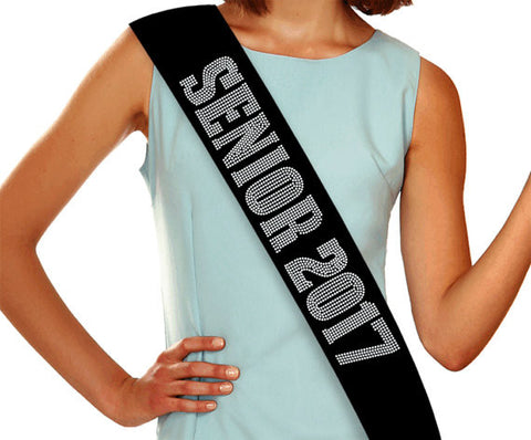 Senior 2017 - Graduation Rhinestone Sash - My Class Shop