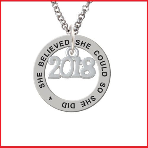 She Believed She Could Ring Necklace 2018-graduation gifts - My Class Shop