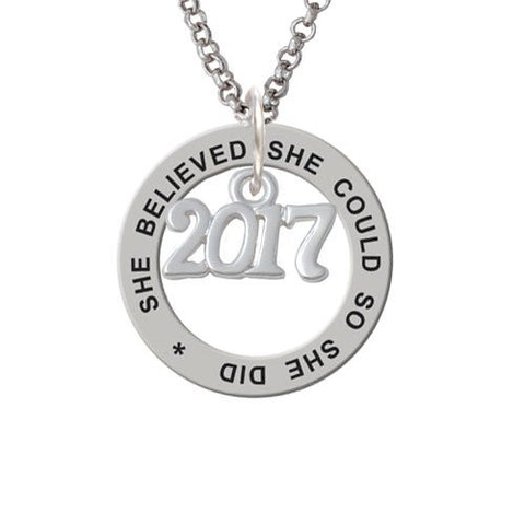 She Believed She Could Ring Necklace gift for graduation 2017 - My Class Shop