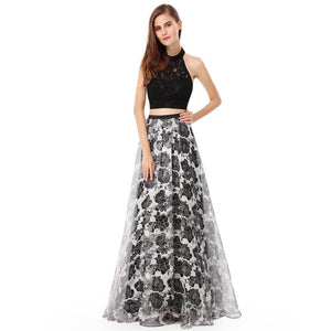 Multi Color Prom Dress-Two piece prom dresses
