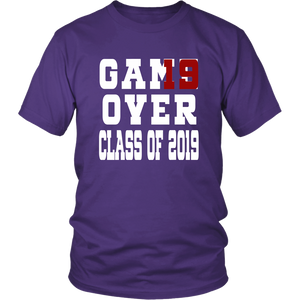Class of 19 shirts - Game Over - Purple