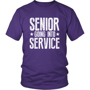 Senior Going Into Service - Class of 2019 T-shirt - Purple