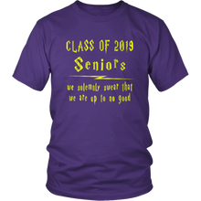 Load image into Gallery viewer, We Solemnly Swear - Class of 2019 T shirts - Purple