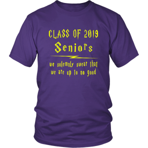 We Solemnly Swear - Class of 2019 T shirts - Purple