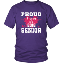Load image into Gallery viewer, Proud Sister of 2018 Senior - Class of 2018 shirts - Purple