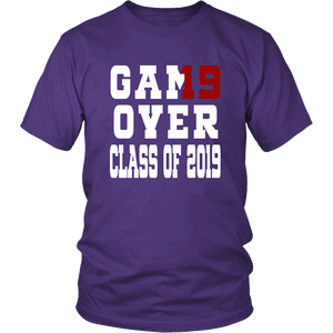 Game Over - Graduation Shirts - Purple