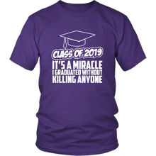 Load image into Gallery viewer, It's A Miracle - Class Of 2019 Shirts Ideas - Purple