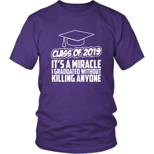 It's A Miracle - Class Of 2019 Shirts Ideas - Purple