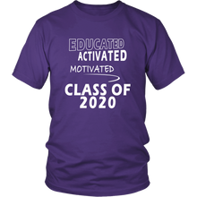 Load image into Gallery viewer, Educated - Class of 2020 Shirt Designs