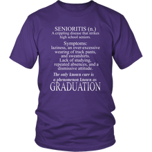 Load image into Gallery viewer, Senioritis - Class of 2019 T shirts - Purple
