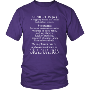 Senioritis - Class of 2019 T shirts - Purple