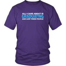 Load image into Gallery viewer, All I Care About Is Graduating - Class of 2019 T-shirt Designs - Purple