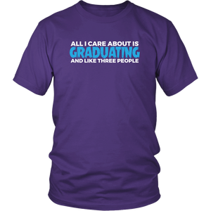 All I Care About Is Graduating - Class of 2019 T-shirt Designs - Purple