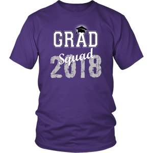 2018 Grad Squad T shirts - Graduation Shirts For Family - Purple
