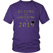 Load image into Gallery viewer, Queens Are Graduating In 2019 - Senior 2019 Shirt - Purple