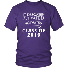 Load image into Gallery viewer, Class of 2019 t shirt slogans - Sen19rs shirt - Purple