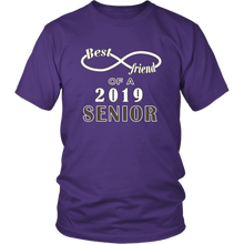 Load image into Gallery viewer, Class T-shirt Ideas 2019 - Best Friend Of A 2019 Senior - Purple