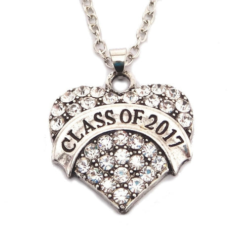 Class of 2017 Heart Necklace - My Class Shop